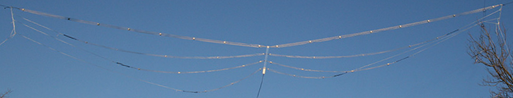 Four band Cage dipole antenna, Prototype #2